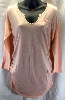 Old Navy Maternity Top Womens Large 12 14 Peach V-Neck Ruched Peach NWT New 8838
