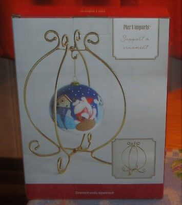 Pier 1 Imports Christmas Ornament Holder Stand Nib - Ornament Not Included