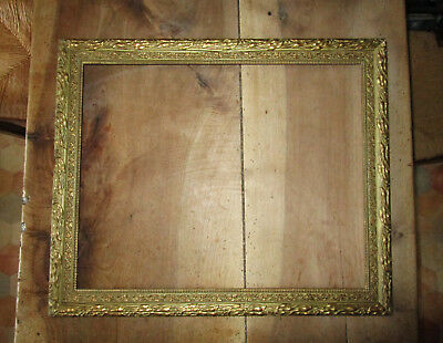 Superb frame antique wooden and stucco golden dimensions of rabbet : 50,2 x 40