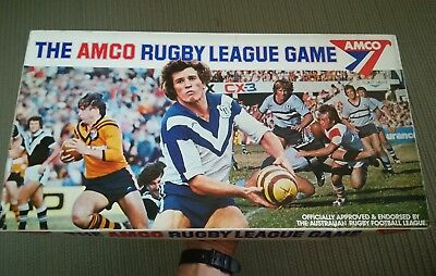 Vintage Amco Rugby League game complete retro footy mancave 1977