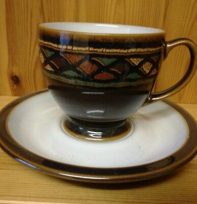 Denby Shiraz  Footed Cup And Saucer Perfect Condition