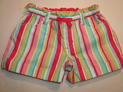 NWT Gymboree Ice Cream Sweetie Cuffed Striped Shorts Size 6