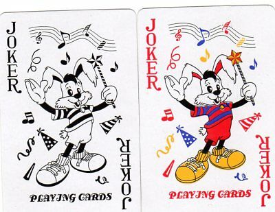 """Pair of RARE MINT """"Musical Hare"""" JOKER Playing Cards #257"""