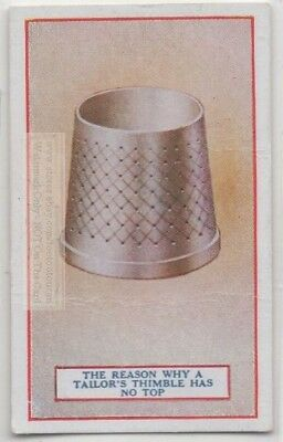 Why Tailors Thimble Had Open End Sewing Fabric 90+  Y/O Trade Ad Card