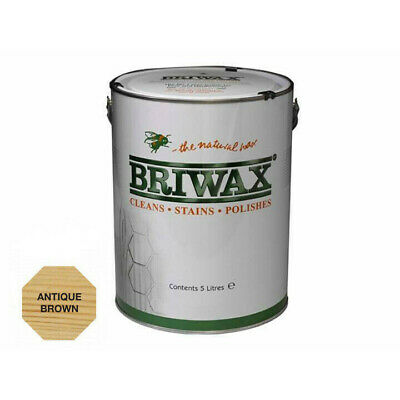 Briwax Original Wax Polish Antique Brown 5 Litre Cleans Stains and Polishes