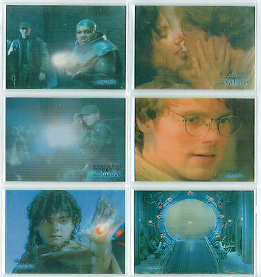 Stargate Season 1-3 Complete Set Of 6 Motion Cards M1-M6