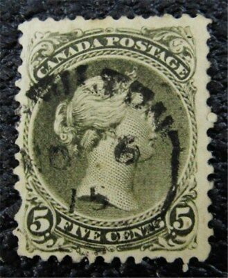 nystamps Canada Stamp # 26 Used UN$270 VF