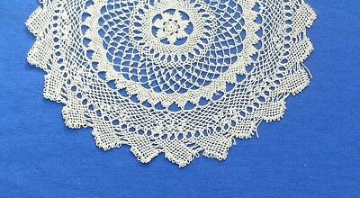 Antique  Armenian Needle Knotted Lace  Doily small