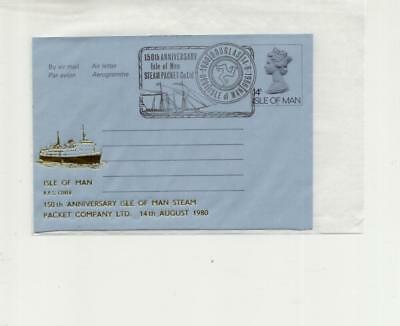 Isle of Man 1980 Overprinted Airletter, 150th Anniversary Steam Packet