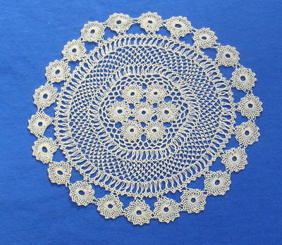 Antique  Armenian Needle Knotted Lace  Doily # 3
