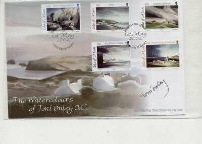Isle of Man 2002 Watercolours of Toni Onley FDC Signed by Toni Onley