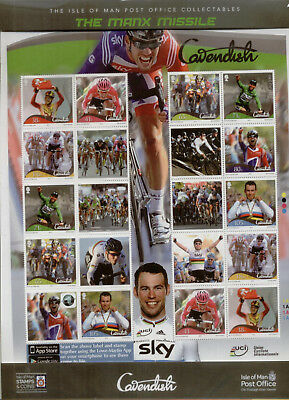 Isle of Man 2012 Mark Cavendish Sheetlet, in sealed pack