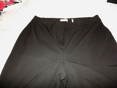 Simply be Anthology black tailored trousers size 22  inside leg 30''