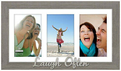 "Malden ""Laugh Often"" 3 Opening 4"" x 6"" Collage Frame - NEW"