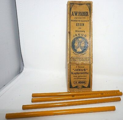 FABER A. W. Faber Janus Nr. 8300 Kopierstift 4x in Box copying pencil with box