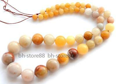 Round Natural 6-16mm Morocco Agate Graduated Gemstone Beads 15''