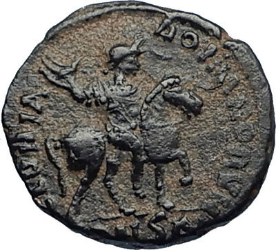 HONORIUS on Horse 393AD Authentic Ancient Original Genuine Roman Coin i67294