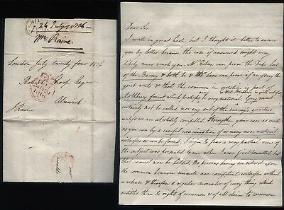 1816 FREE Fine Legal Case letter Jonathan Raine, Barrister, Judge, Politiction