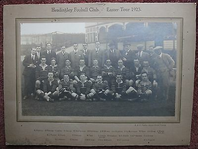 1923 Headingley Football Club Easter Tour Rugby Union - Yorkshire Carnegie Leeds