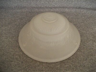 Antique Vintage Frosted Glass Rose Pattern Ceiling Light Shade 3 Chain Holes