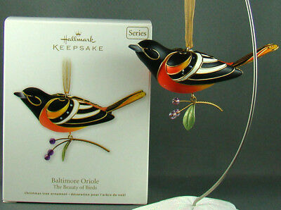 New Baltimore Oriole 2011 Beauty Birds 7 in Series Hallmark Christmas Ornament