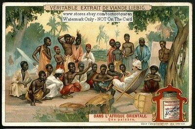 White Colonialist In French Colonies In East Africa c1905 Trade Ad Card