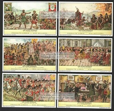 History Of Scottish Clans Britain England Celtic 6 c50 Y/O Trade Ad Cards