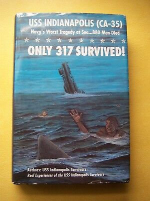 USS Indianapolis CA-35 - Only 317 Survived! Signed by Survivor O'Donnell