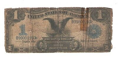"1899  One Dollar  Silver Certificate  ""Black Eagle""  Lyons - Roberts Signatures"