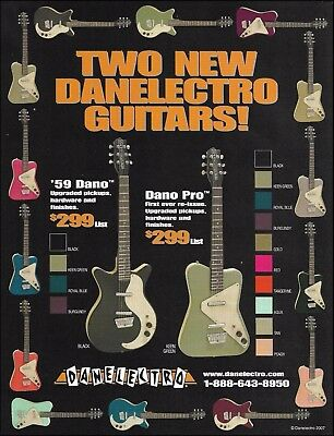 The 2007 Danelectro '59 Dano Pro Re-Issue Series guitar ad 8 x 11 advertisement
