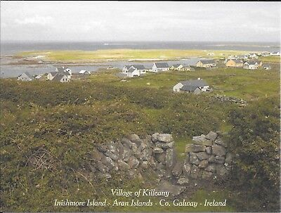 Postcard Village of Killeany Inishmore Aran Islands Co. Galway Ireland