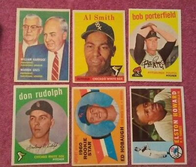1950's 60's 70's Topps Baseball VINTAGE lot of 54 Clemente Koufax Aaron