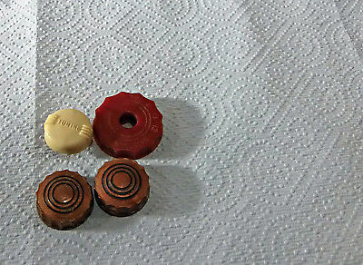 vintage tube television knobs philco tv knobs parts tuning 2 to 13 red white