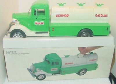 Servco Toy Tanker Truck Bank Plastic With Lights In Original Box 1980's