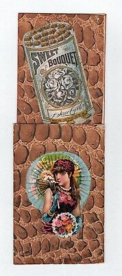 SCARCE 1880s Mechanical Tobacco Trade Card - Sweet Bouquet Cigarettes