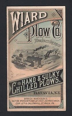 SCARCE 1880s Wiard Plow Co Booklet - Hand & Sulky Chilled Plows - Batavia NY