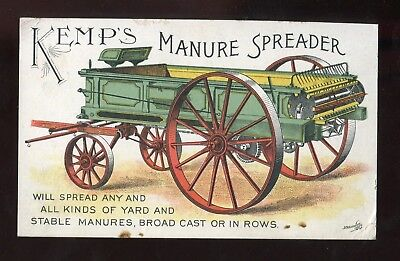 Syracuse NY Kemp & Burpee Mfg Co Kemps Manure Spreader Victorian Trade Card!!