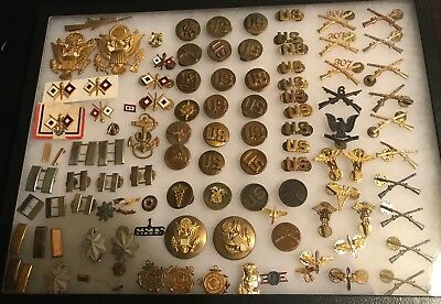 Original Wwii / Wwi Us Wings Med Officer Insignia Medals Pins Lot Gold Silver