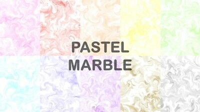 PASTEL MARBLE SCRAPBOOK PAPER - 10 x A4 pages
