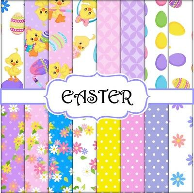 EASTER SCRAPBOOK PAPER - 16 x A4 pages
