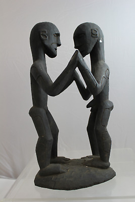 Vintage Hand Carved Wooden Figurative Papua New Guinea Tribal Sculpture (350)
