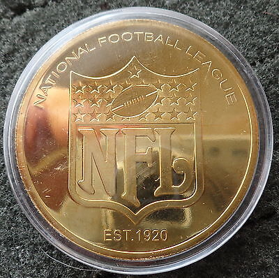 NFL INDIANAPOLIS COLTS Football   24K GOLD  PLATED   COIN  #3s