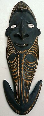 Carved Vintage PNG Mask Hook Sepik