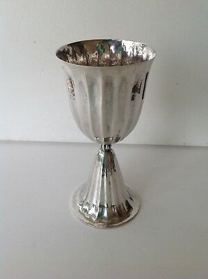 Antique original rare Buccellati Italy Sterling silver cup hand hammered (m1721)