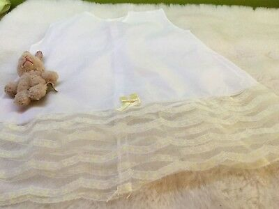 GIRLS BABIES INFANTS  TRUE  VINTAGE NYLON PETTICOAT  UNUSED 3/6m 1970s AUTHENTIC
