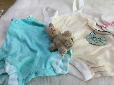 AUTHENTIC VINTAGE 1970s UNUSED BABY BUNDLE  ROMPERS  ETC 3 M