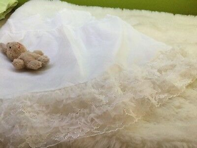 GIRLS VINTAGE  UNDER SKIRT PETTICOAT  UNUSED 3/6m 1970s AUTHENTIC