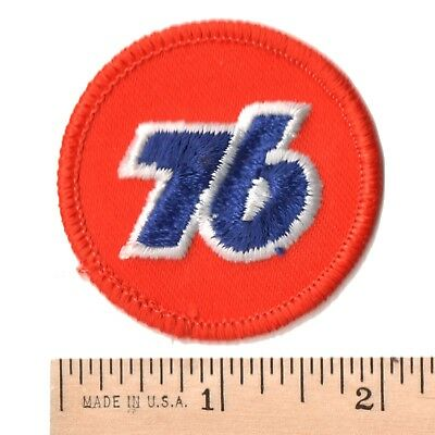 "Union 76 Gasoline IRON ON Embroidered Patch Mint Unused 2"" Diameter"