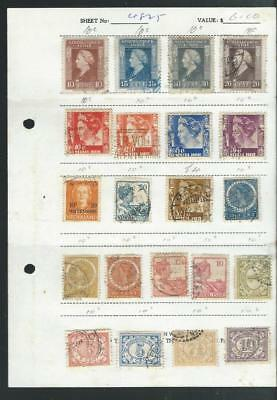 Dutch Indies(Ned Indie)  small approval selection of stamps  ,Good range [2114]