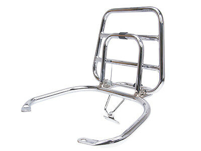 Top Case Carrier PANIER RACK Fold-Up in Chrome for Vespa LX, LXV S 50 - 125Ccm